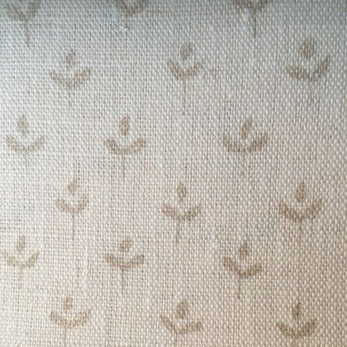 Coco Linen Fabric Swedish Grey Neutral Floral