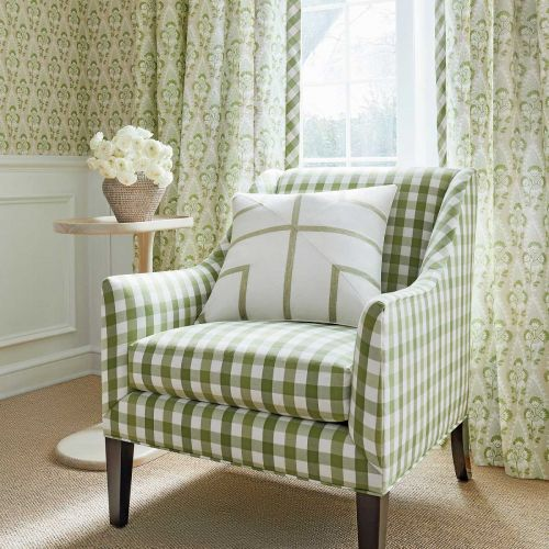 Cornwall Green and Beige Floral Wallpaper
