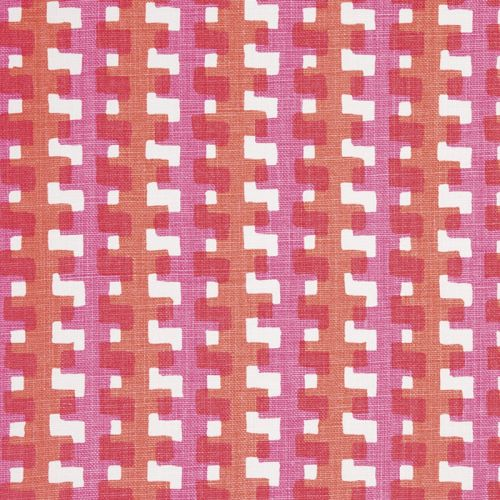 Cremaillere Linen Fabric Hot Pink Red