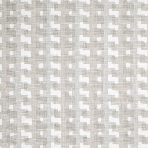 Cremaillere Linen Fabric Natural Neutral Grey