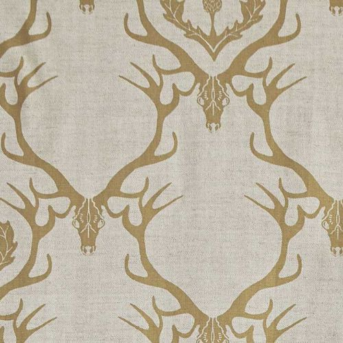 Deer Damask Fabric