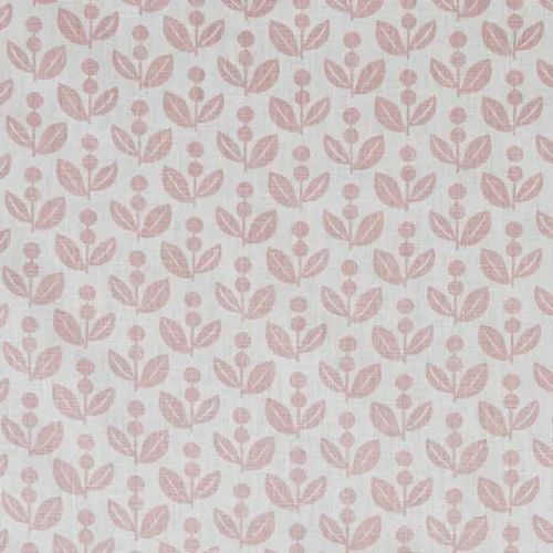 Dolly Linen Fabric Pink Print