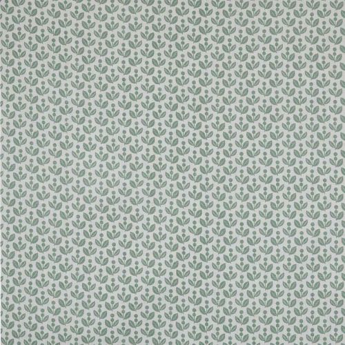 Dolly Moss Green Print Linen Fabric