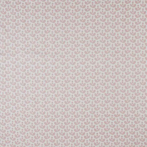 Dolly Pink Print Linen Fabric
