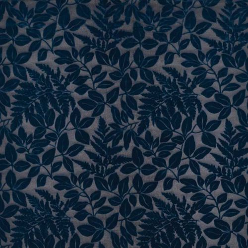 Donwell Velvet Fabric Dark Blue