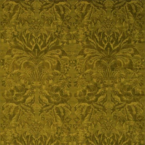 Ducato Velvet Yellow Damask Fabric