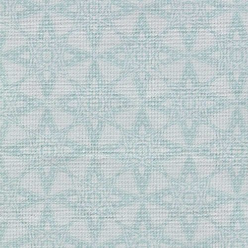 Duck Egg Blue Geometric Fabric