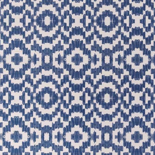 Echo Raffia Wallpaper Cobalt Blue Geometric