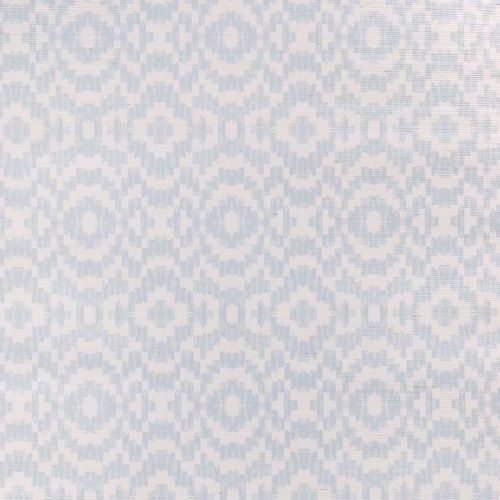 Echo Raffia Wallpaper Sky Light Blue Geometric