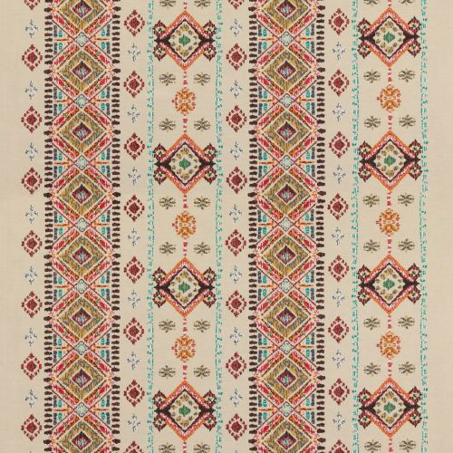 Embroidered Drapery Fabric