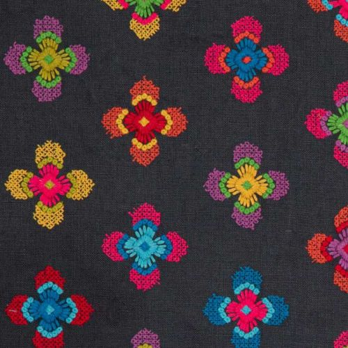 Embroidered Flower Fabric