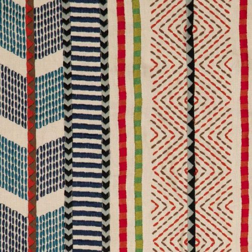 Embroidered Stripe Fabric
