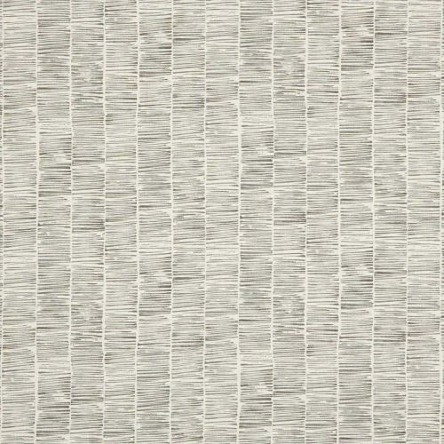 Etching Linen Fabric Dove Grey Striped
