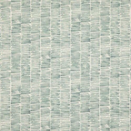 Etching Linen Fabric Teal Striped