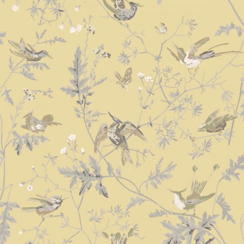 Hummingbirds Silk Fabric