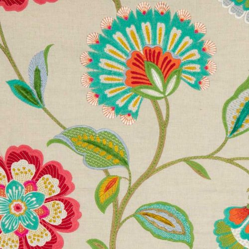 Floral Curtain Material