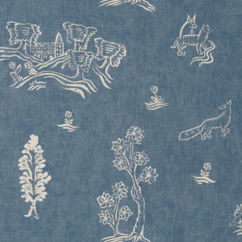 Friendly Folk Fabric available in 7 colours