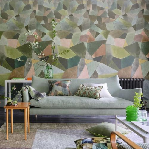Multicoloured Geometric Wallpaper