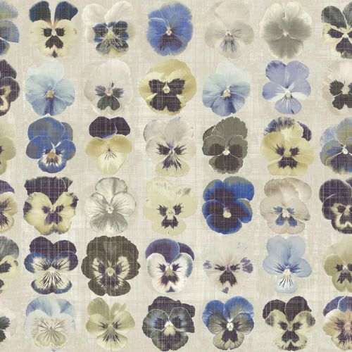 Getrude Wallpaper Electric Blue Printed