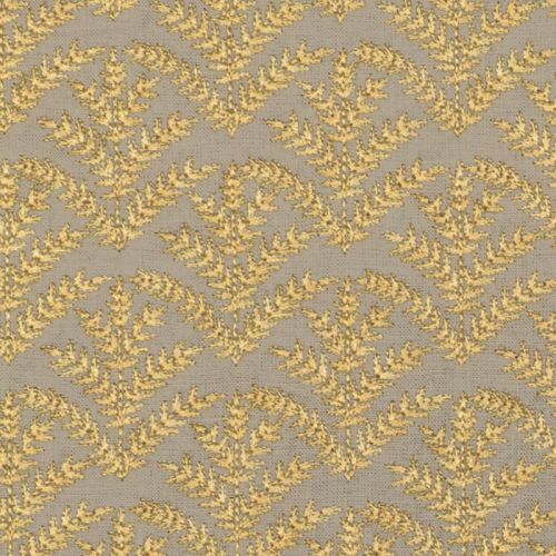Royal Frond Embroidered Linen
