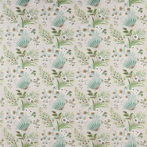 Green Emboidered Fabric Ashdown