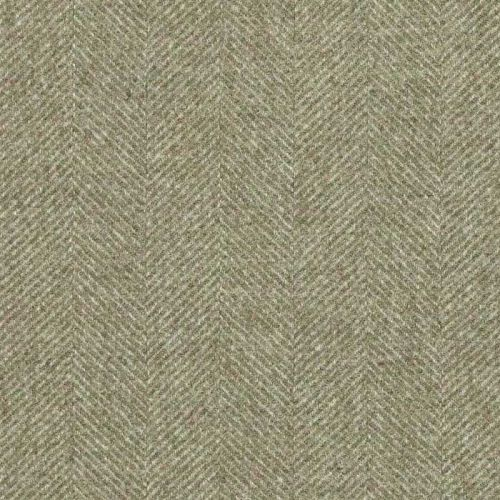 Green Herringbone Fabric Moon