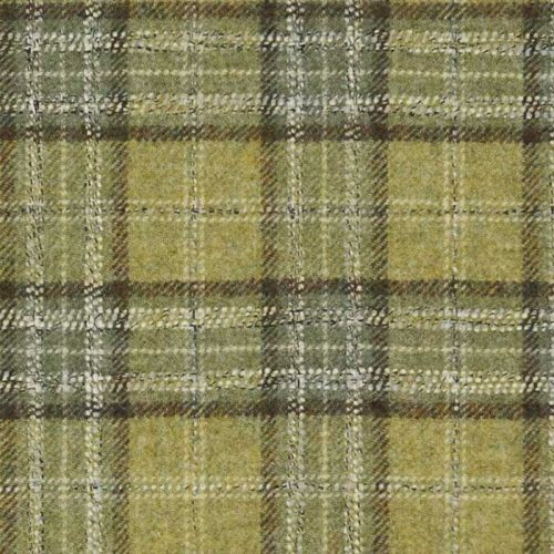 Green Tartan Fabric Moon