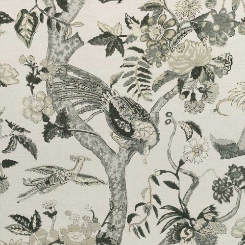 Grey Bird Fabric