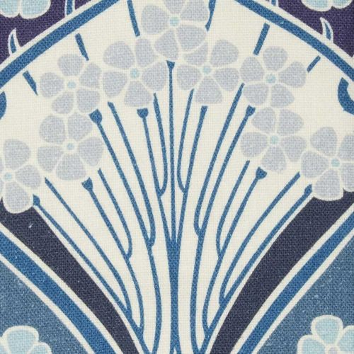 Ianthe Bloom Linen Fabric Lapis