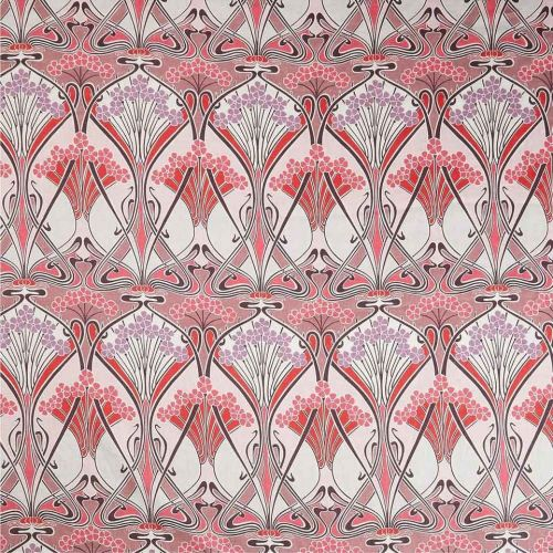 Ianthe Bloom Pink and Purple Linen Fabric