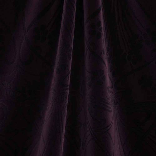 Ianthe Dark Purple Velvet Fabric