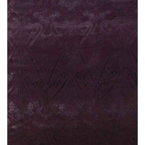 Ianthe Velvet Fabric Dragonfly Dark Purple