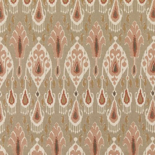 Ikat Bokhara Fabric Neutral Pink