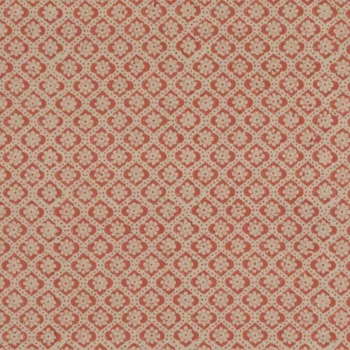 Indus Flower Fabric Red