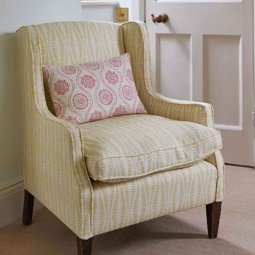 Jaipur Yellow Printed Occasional Chair