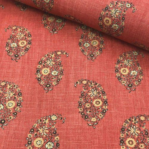 Jessamy Paisley Fabric Paprika Red