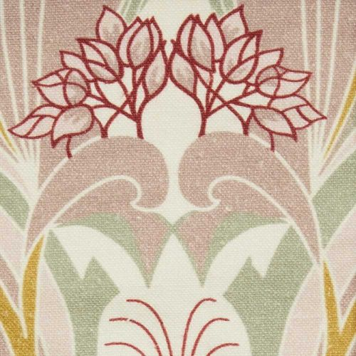 Red and Pink Linen Fabric