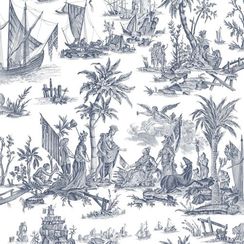 La Fayette Toile Wallpaper