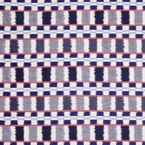 Lapaz Outdoor Fabric Azzurro Blue Red