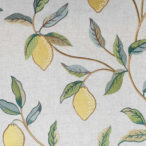 Lemon Tree Embroidery Fabric