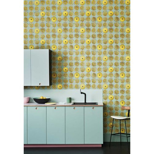 Lemon Yellow Wallpaper for Walls