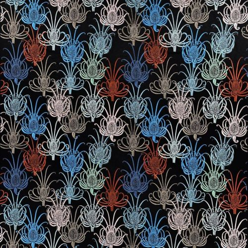 Les Centaurees Embroidered Fabric