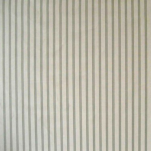 Les Grilles D'or Fabric Dark Green Striped