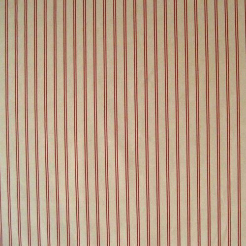 Les Grilles D'or Fabric Red Striped