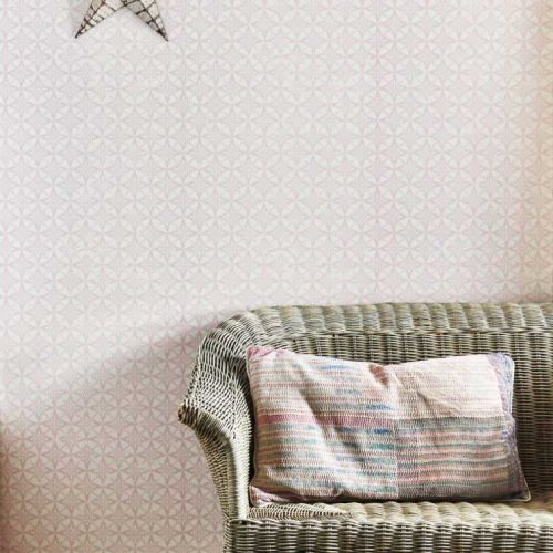 Light Pink Geometric Wallpaper