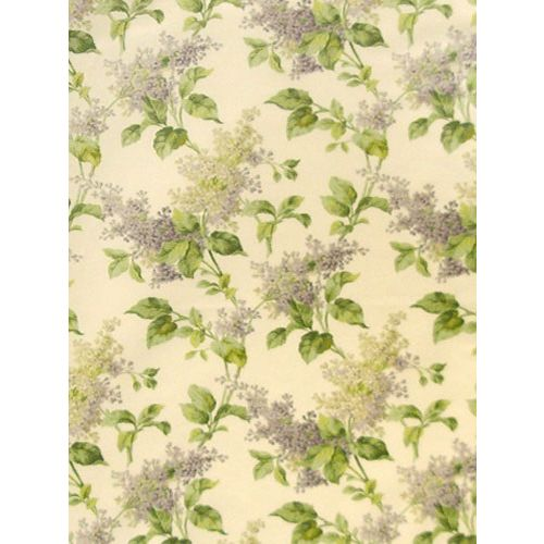Lilac Floral Fabric Purple