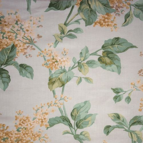 Lilac Yellow Floral Print Fabric