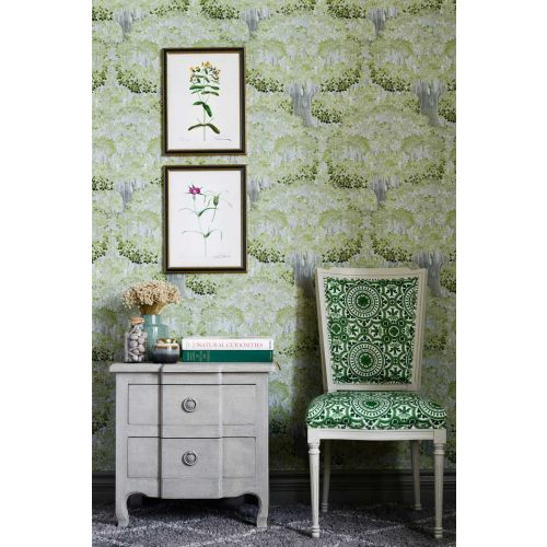 Lime Green and Grey Wallpaper