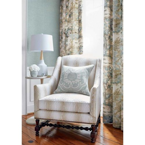 Lincoln Blue and Beige Toile Curtain Fabric