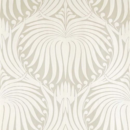 Lotus Wallpaper Old White Clunch